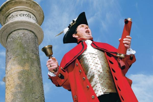 Darlington and Stockton Times: PROUD SERVICE: Darlington town crier Peter Stemmer