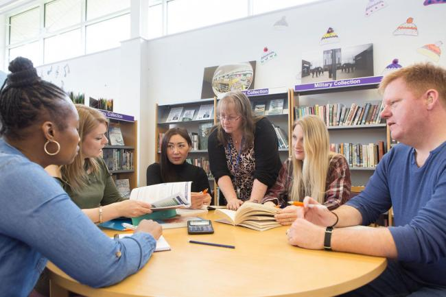 Adult learners in class at Catterick library