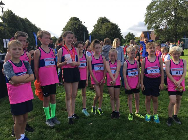 Allerton Juniors after the Middlesbrough 3KM Fun Run