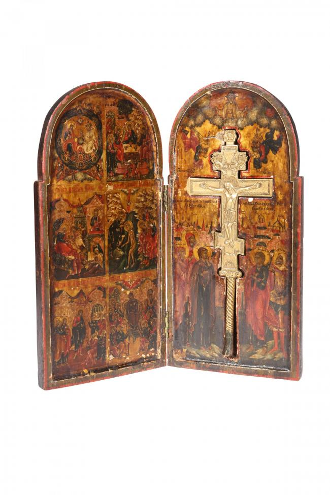 A Russian diptych icon sold for £6,800 at Elstob & Elstob's recent sale