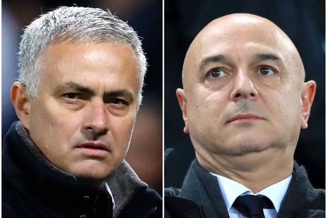 Jose Mourinho (left) is pleased to be working with Daniel Levy (right)