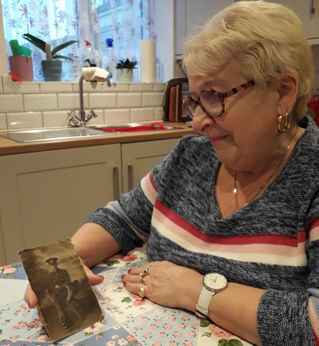 Gloria Suthers has lent objects relating to her great uncle George Fensome to feature in the new exhibition. George was the Yorkshire Regiment's final fatality of the First World War