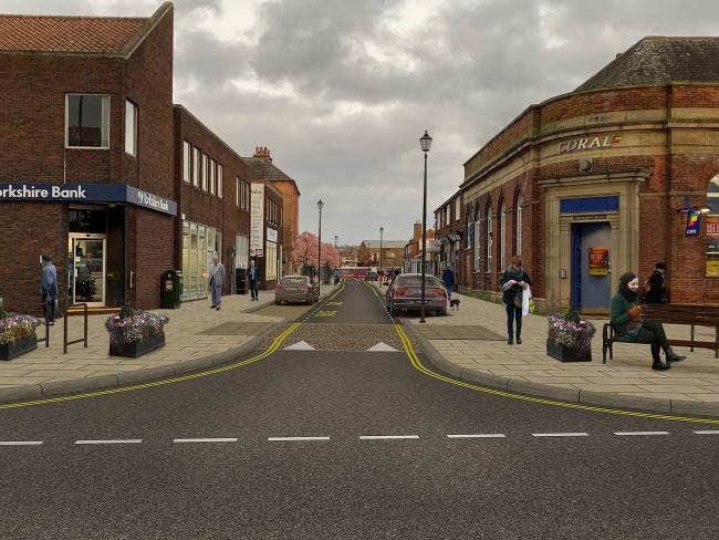 A CGI rendering of how Zetland Street could look as part of the development plans