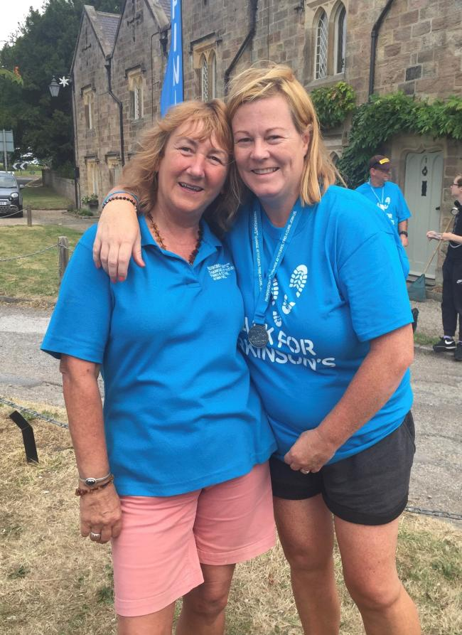 Leah Forster with Chrissie Fielden, regional Parkinson's UK fundraiser