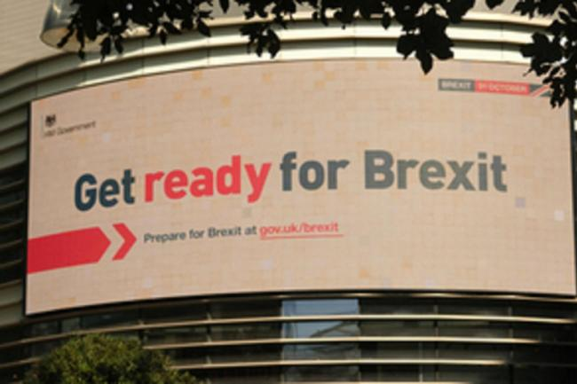 A 'Get ready for Brexit' campaign poster