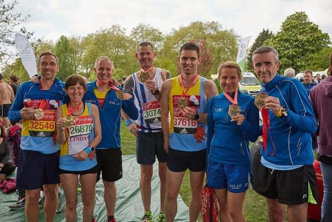 Darlington Harriers take home medals from a race, and support the community on the side