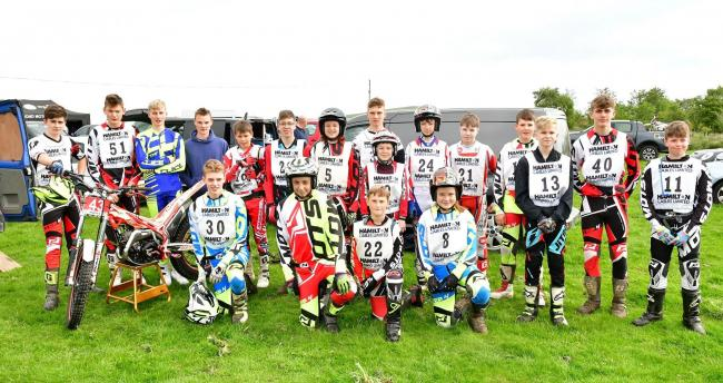 Competitors- Mintex Trial 2019. The Richmond Motor Club. Pictures by Barry Watson (Richmond) From left to right: Front row, Josh Thwaite, Jack Dent, Callum Fowler, Amber Richardson. Middle row, Alfie Royle, Francis Nicholson, Ollie Watling, Harry Muggridg