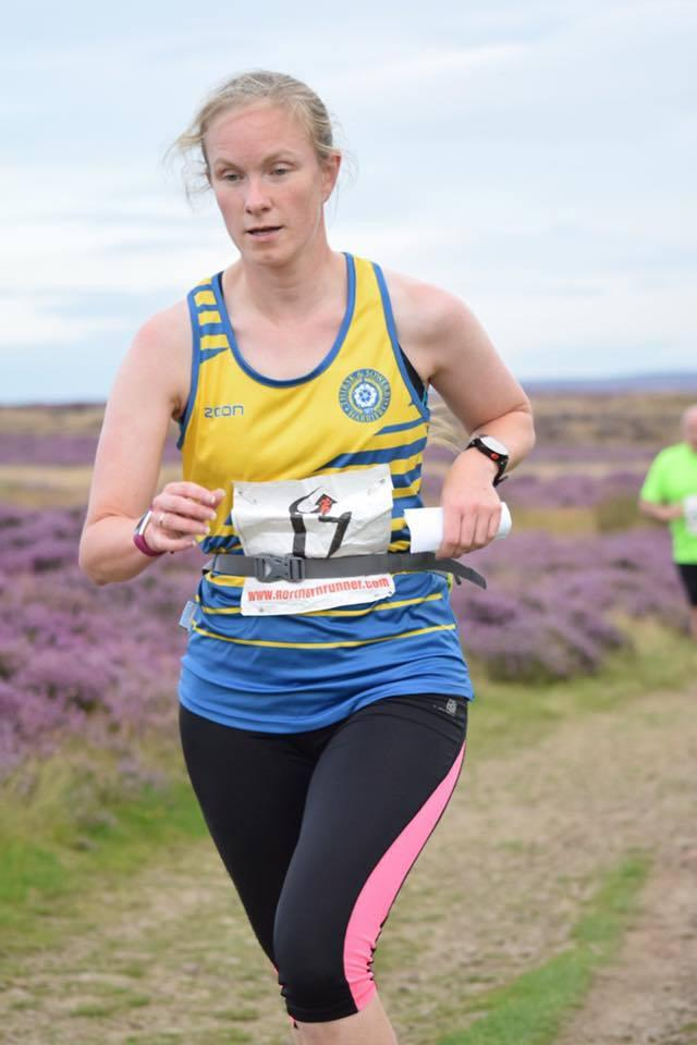 Fran Jeffery at a Gribdale Gallop Fell Race