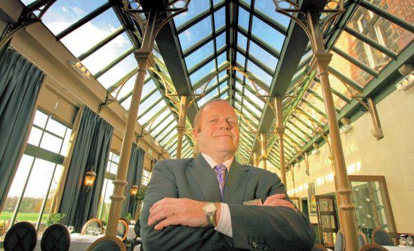 Rockliffe Hall's managing director Nick Holmes in The Orangery
