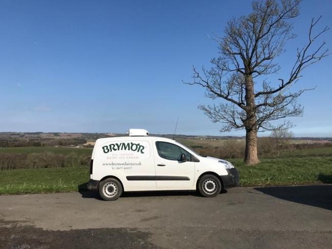 Brymor Icecream Dairy van out on deliveries