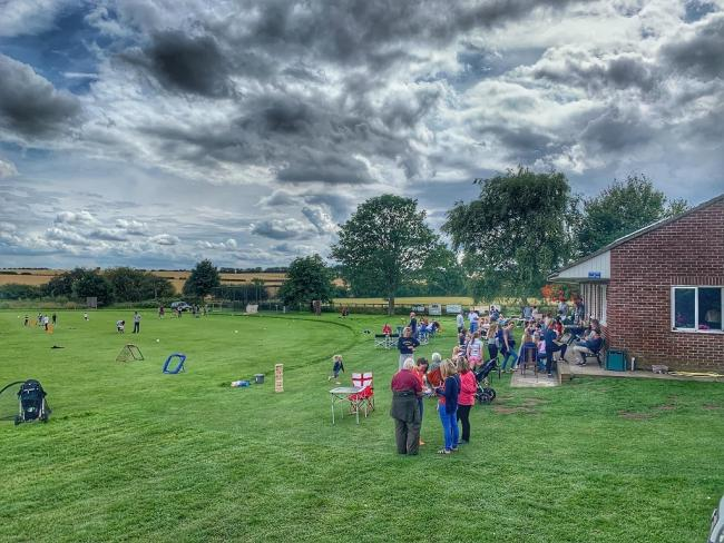 East Harlsey's BBQ day in 2019, jointly arranged and hosted by the cricket club and village hall