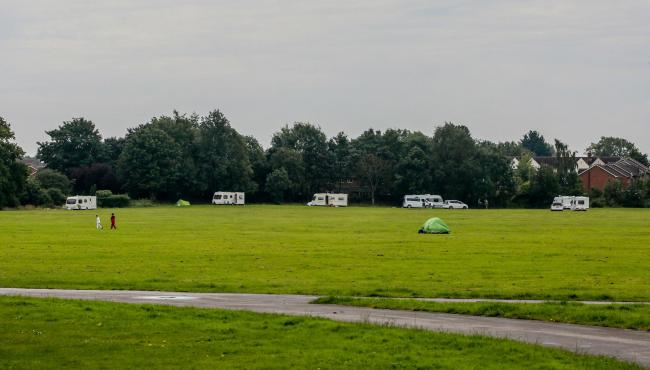 Caravans in South Park Picture: SARAH CALDECOTT