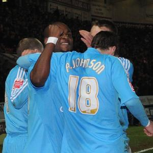 Leroy Lita celebrates his goal in the second half