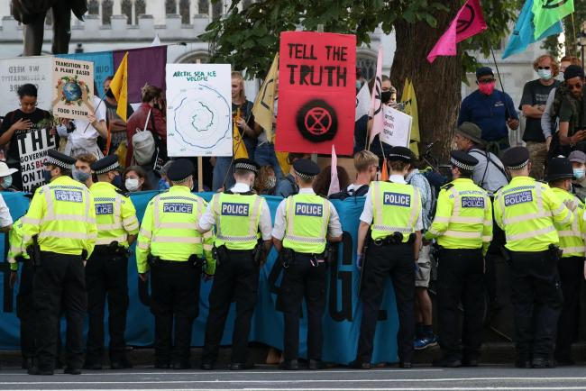 Extinction Rebellion protestors in London this week Picture: PA