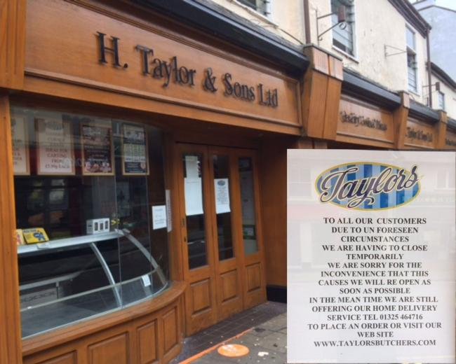 Taylors on Skinnergate in Darlington has shut after staff tested positive for Covid Picture: ALEXA FOX