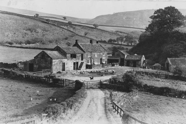 "An almost timeless rural picture from D&S archive. A librarian has written on the back of it: ""Lonely farmstead near Chopgate, Bilsdale, October 1955"""