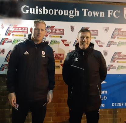 Guisborough Town FC Manager Steve Bell and Assistant Paul Crager