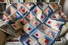 The quilt which is being raffled for Hambleton Food Share