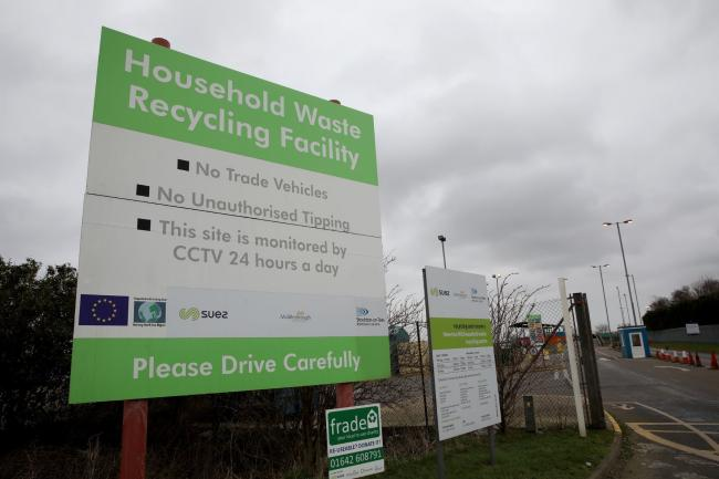 A household waste recycling centre