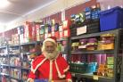Santa popped into the Hambleton Foodshare store to thank everyone who has donated ?