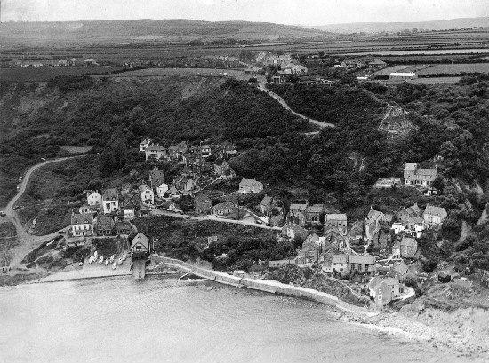 Runswick Bay by Darlington pioneer aerial photographer Jimmy Blumer in the early 1950s