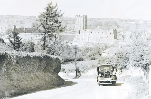 Darlington and Stockton Times: Richmond castle in the 1950s