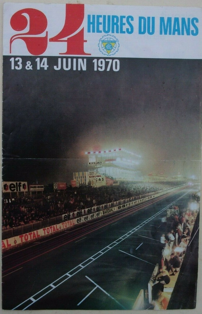 A scan of a poster from the Le Mans 24 Hour race in 1970