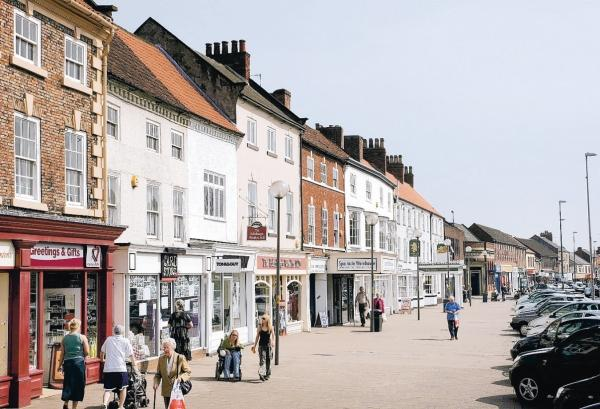 Northallerton High Street. As a blueprint for the regeneration of town is unveiled, businesses are invited to new information-sharing events