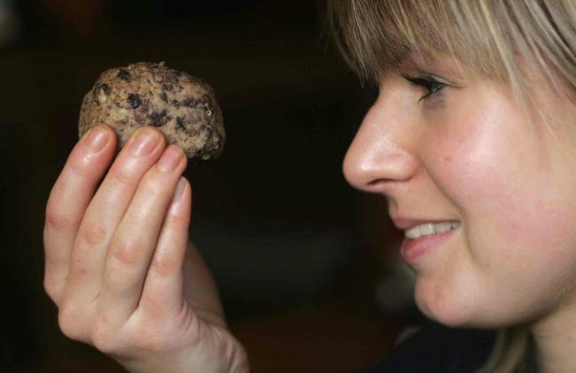 Bartender Sarah Jones comes face to face with a penny duck in 2004 when five Darlington butchers sold the traditional delicacy