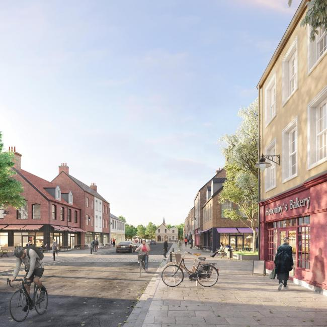An artist's impression of what the proposed Heronby High Street might look like