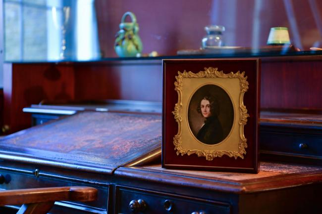 A lost portrait of Charles Dickens by Margaret Gillies on display at the Charles Dickens Museum in London Picture: REBECCA BROWN/PA