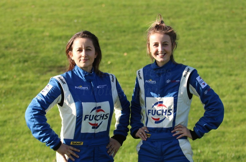Paige (left) and Drew Bellerby are trailblazing the rallycross scene these days Picture: Phill Andrews