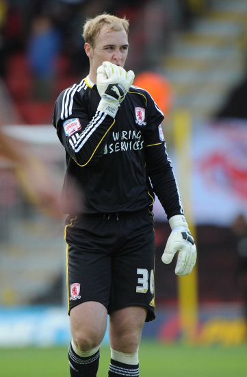 Darlington and Stockton Times: ENGLAND DUTY: Middlesbrough keeper Jason Steele