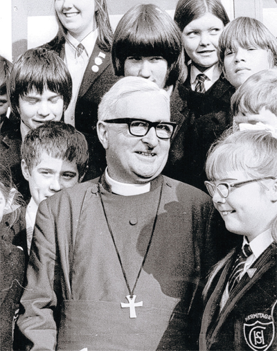 SCHOOL DAY: Ian Ramsey with children at Hermitage School, Chester-le-Street, in 1972