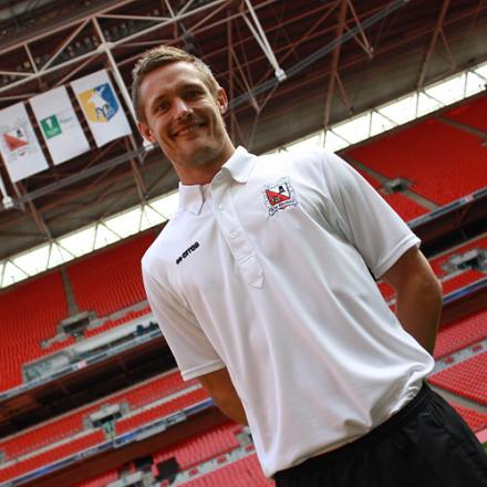 WEMBLEY WINNER: Ian Miller at Wembley with Darlington in 2011