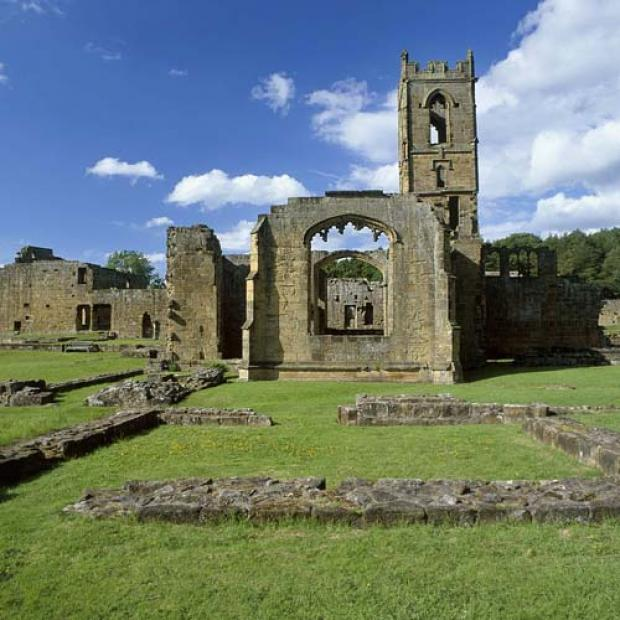 HISTORY: Mount Grace Priory, which was destroyed in 1535 and is the site of the grave of founder Thomas Holland