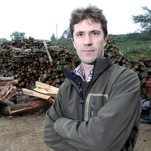 LOGPILE: Ed Millbank of the Barningham Estate