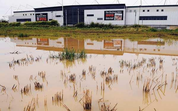 Darlington Arena, pictured this week