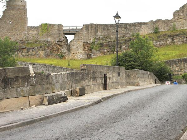 ANCIENT STONEWORK: Structural damage to County Bridge