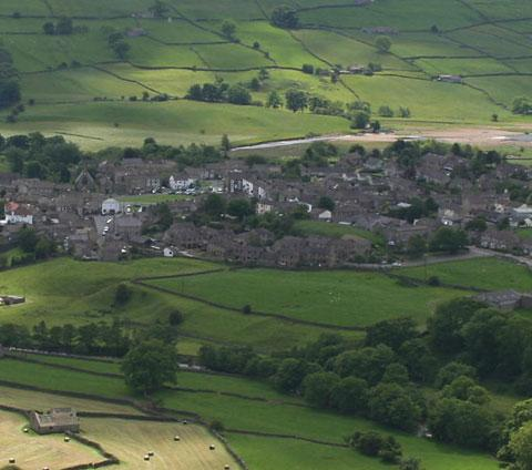 Reeth, not far from the spot where a County Durham motorcyclist was killed