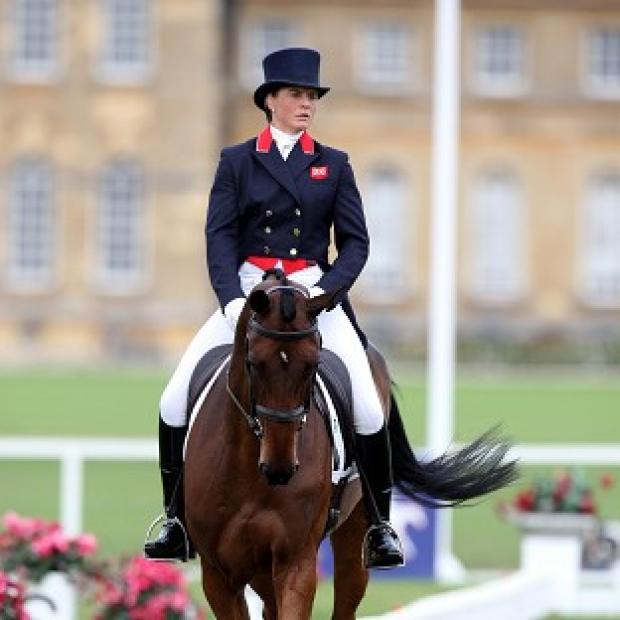 Piggy French will watch Team GB's event riders from the sidelines