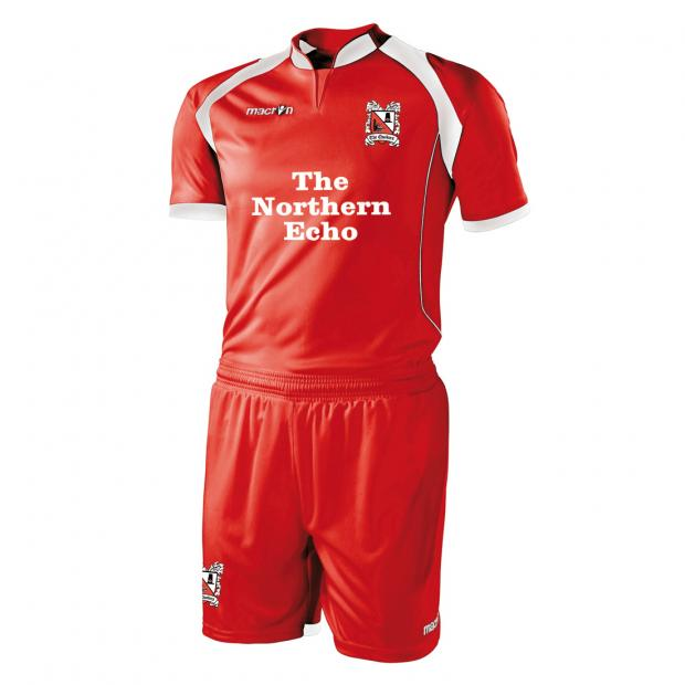 NEW KIT: Darlington's new away kit