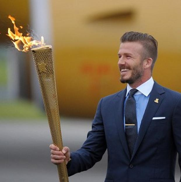 David Beckham appears to have ruled out lighting the Olympic torch