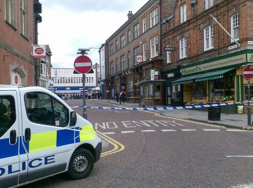 Taped off: Crown Street