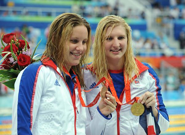 AFRICA BOUND: Olympians Jo Jackson (left) and Rebecca Adlington