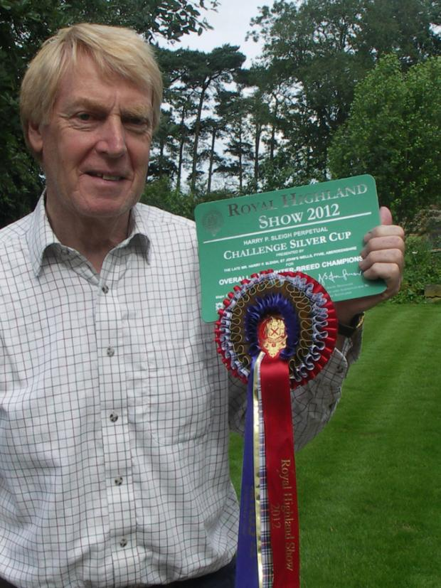 Stuart Goldie with the interbreed rosette