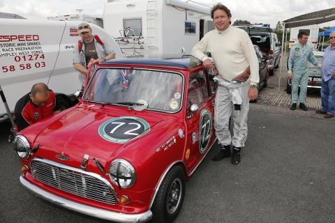 James Martin with his Mini at Croft