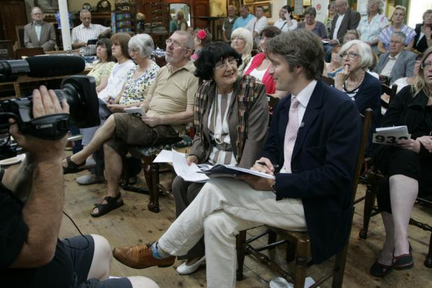 SALE DAY: Anita Manning and Jonathan Pratt at the auction