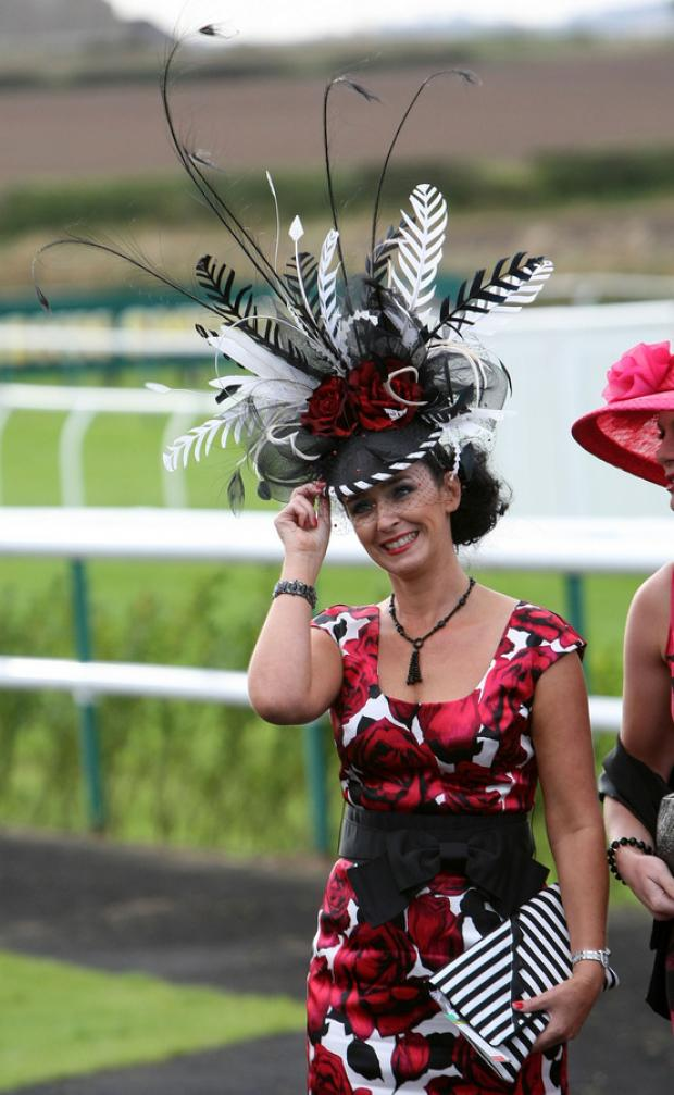 LOOKING SMART: Julie Moore, best dressed lady at Sedgefield races