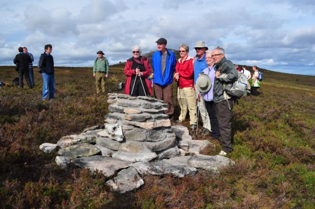 PAYING TRIBUTE; Relatives of fliers who died in the Bennachie Hills gathered for a memorial service yesterday